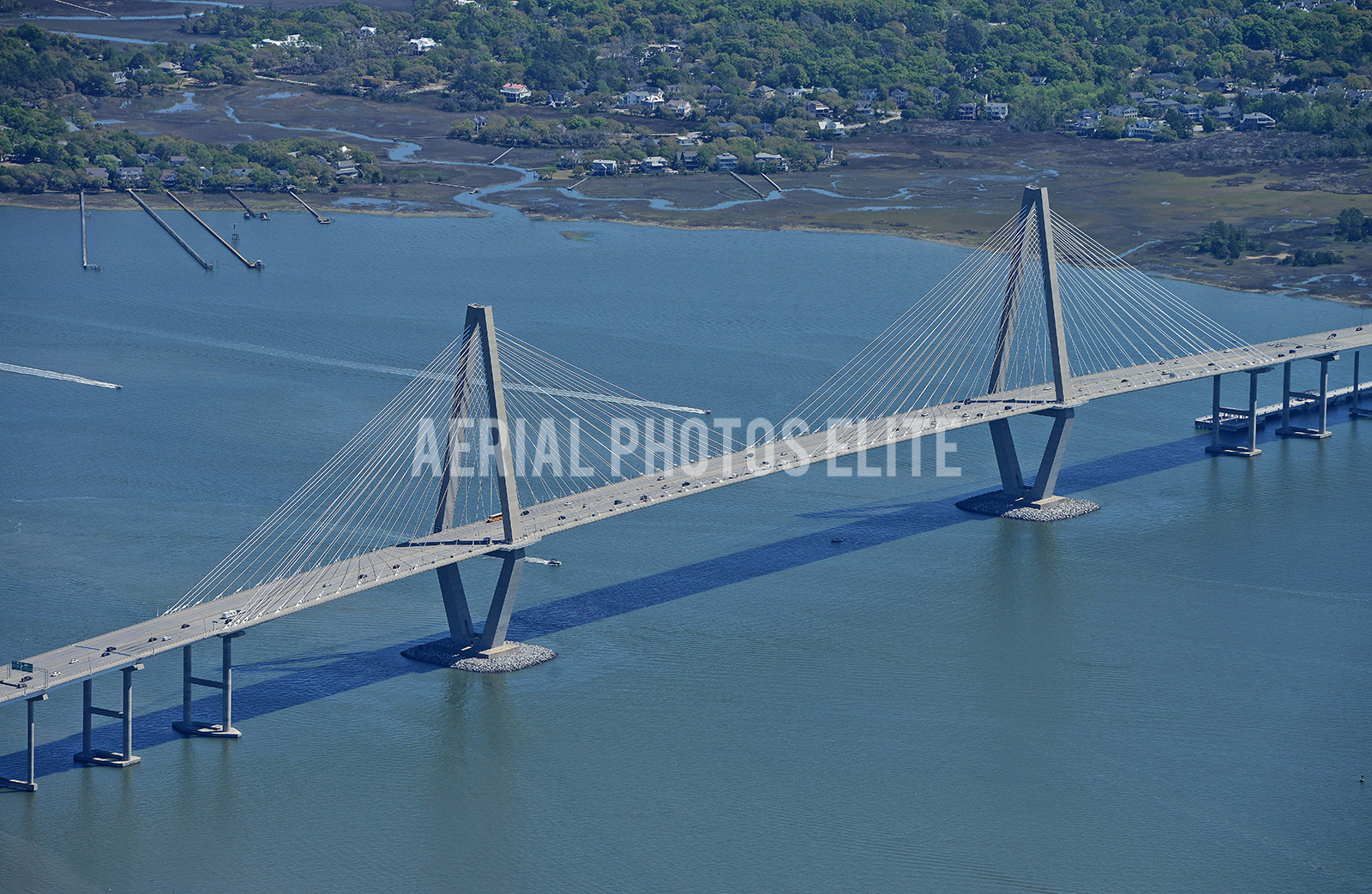 Aerial Photos Elite Cooper River Bridge Mt Pleasant SC | Aerial Photos Elite