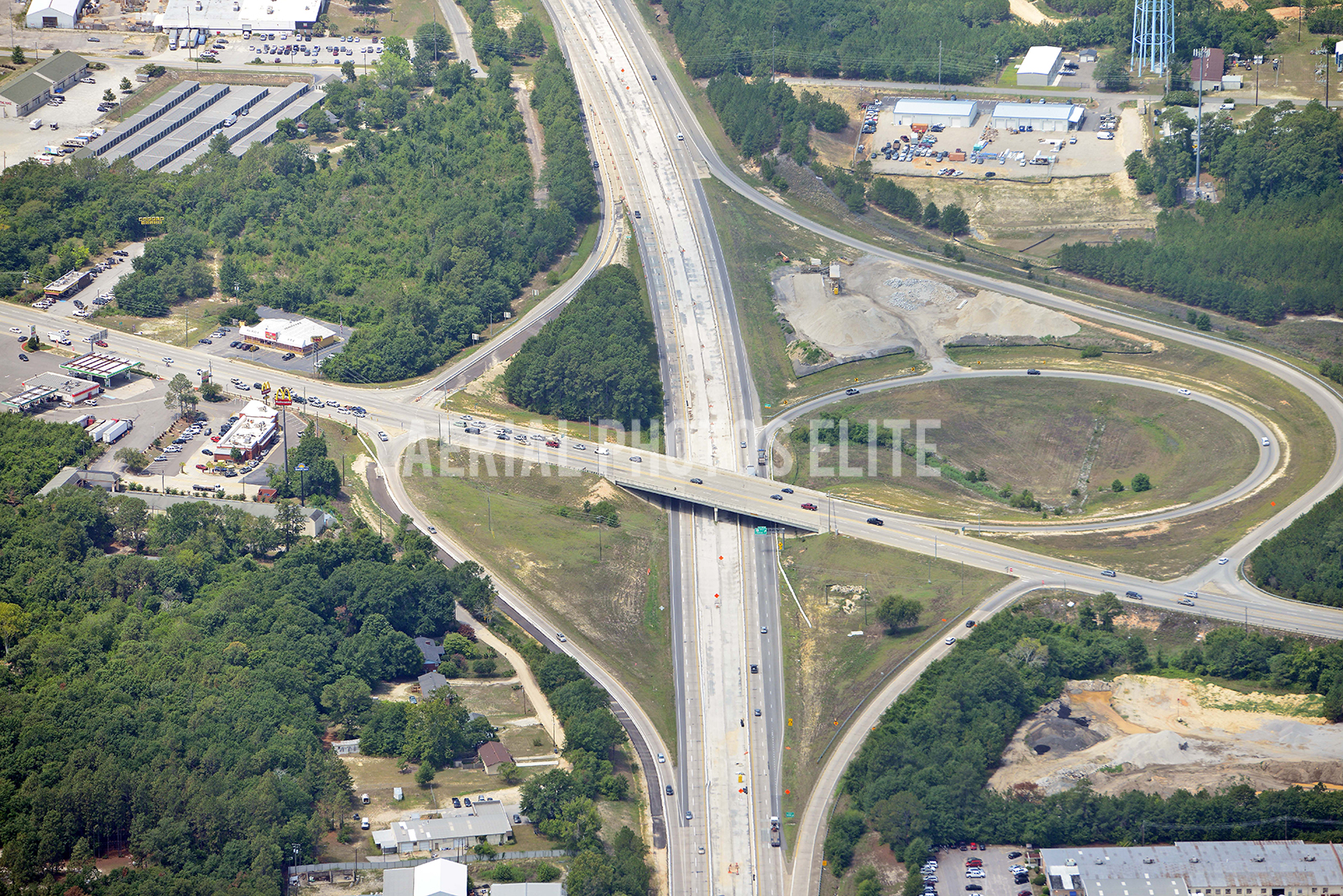 I20 Road Construction Lexington - Columbia SC | Aerial Photos Elite