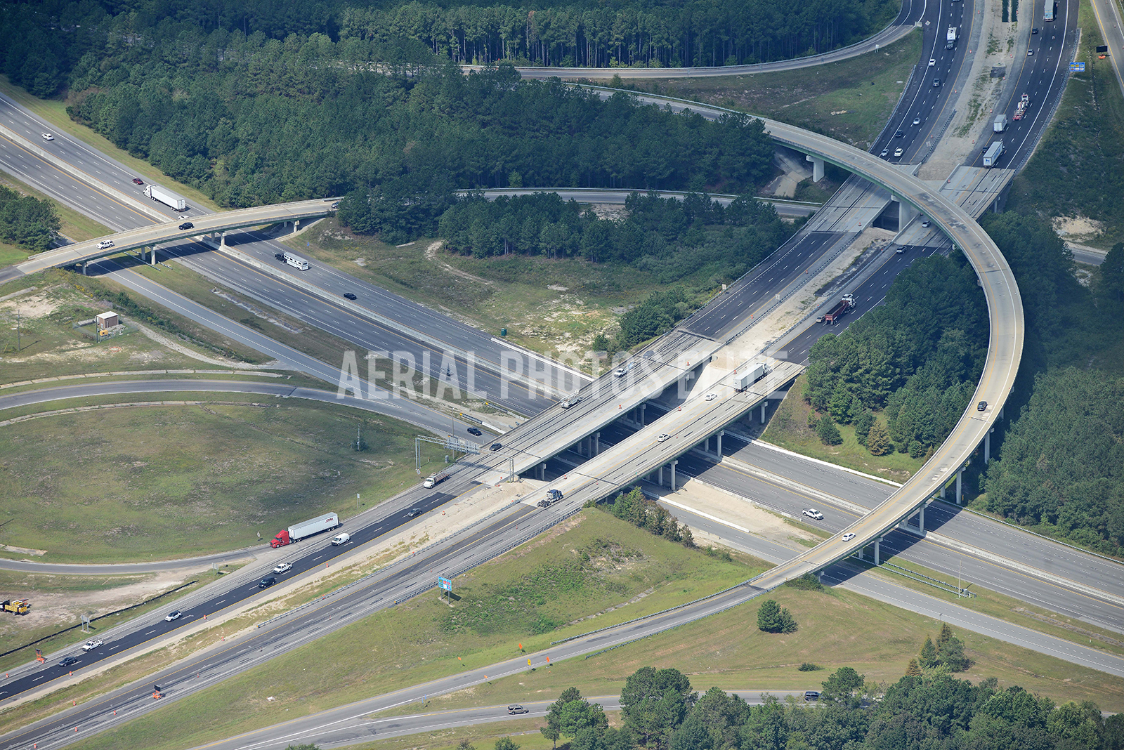 I77 road Construction Richland County SC | Aerial Photos Elite
