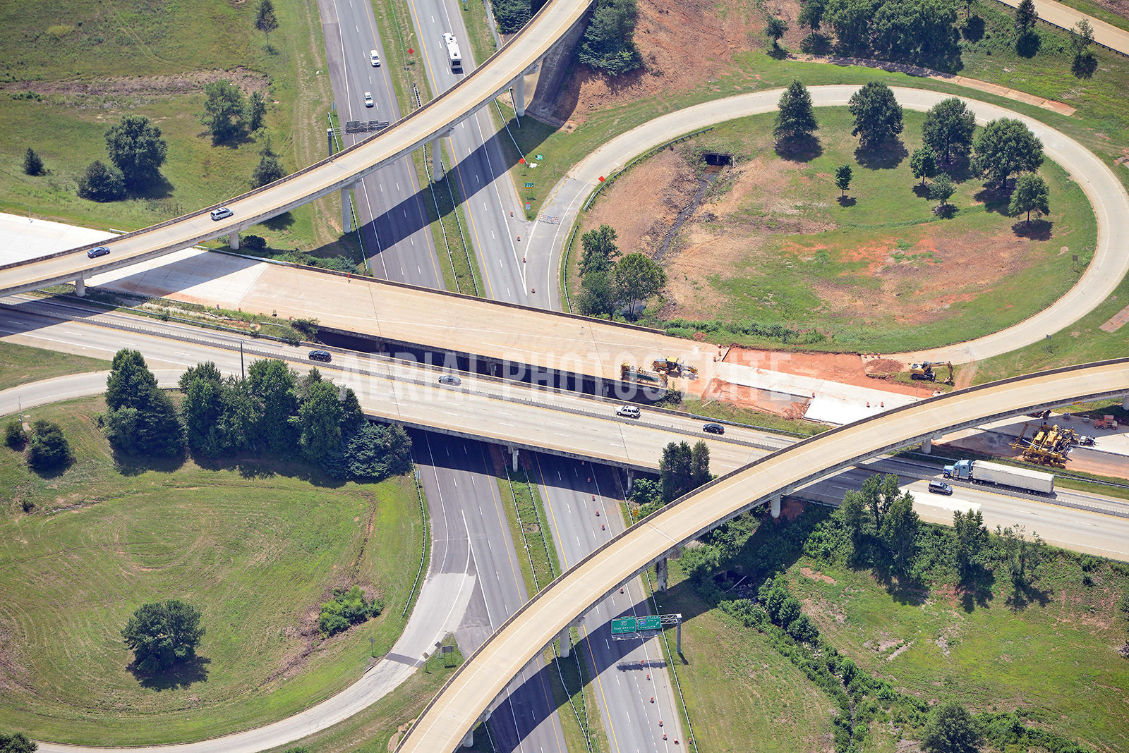 I85 Road construction Spartanburg SC | Aerial Photos Elite