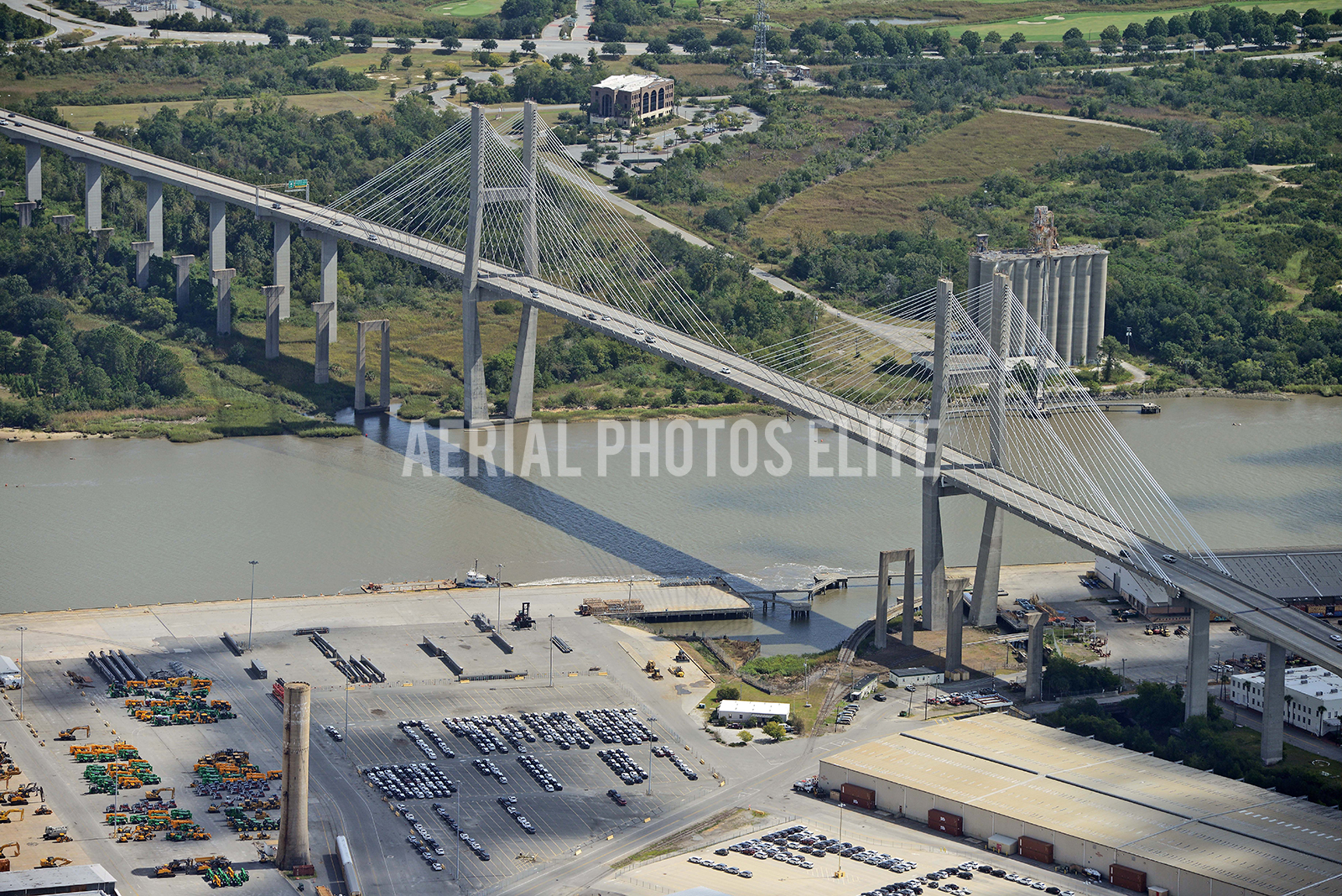 Savannah GA Bridge | Aerial Photos Elite