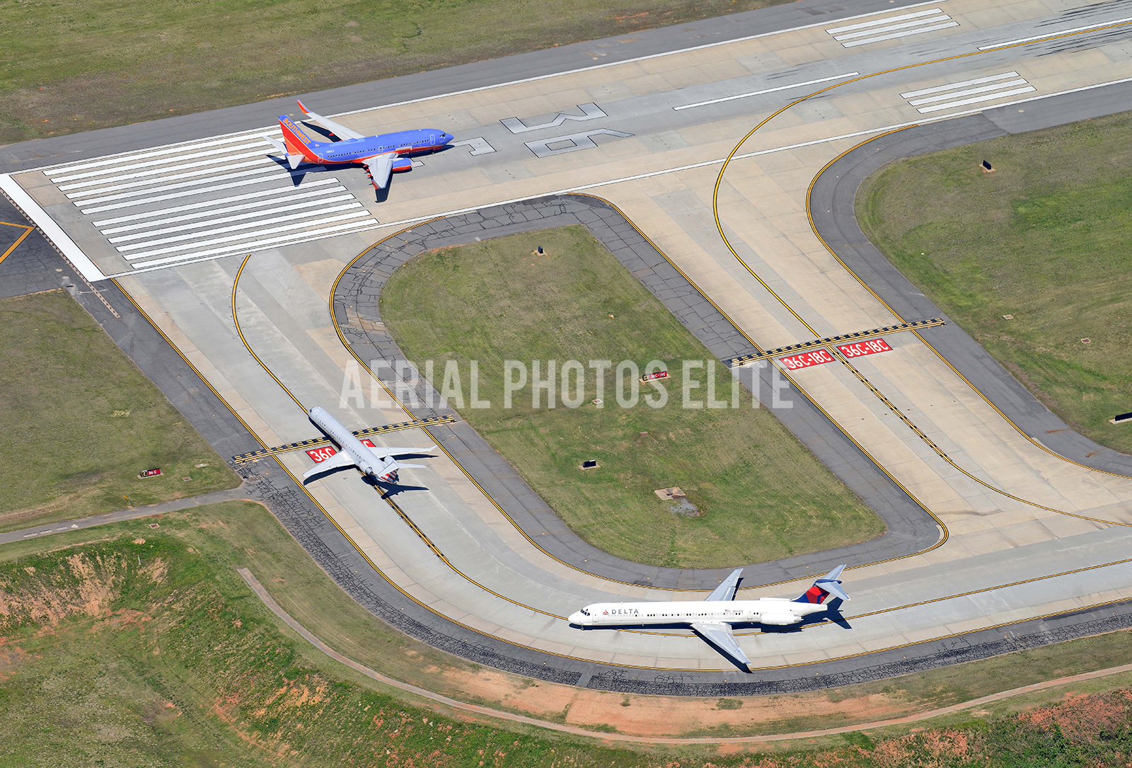 Southwest American Airlines Delta Charlotte Douglas International Airport | Aerial Photos Elite