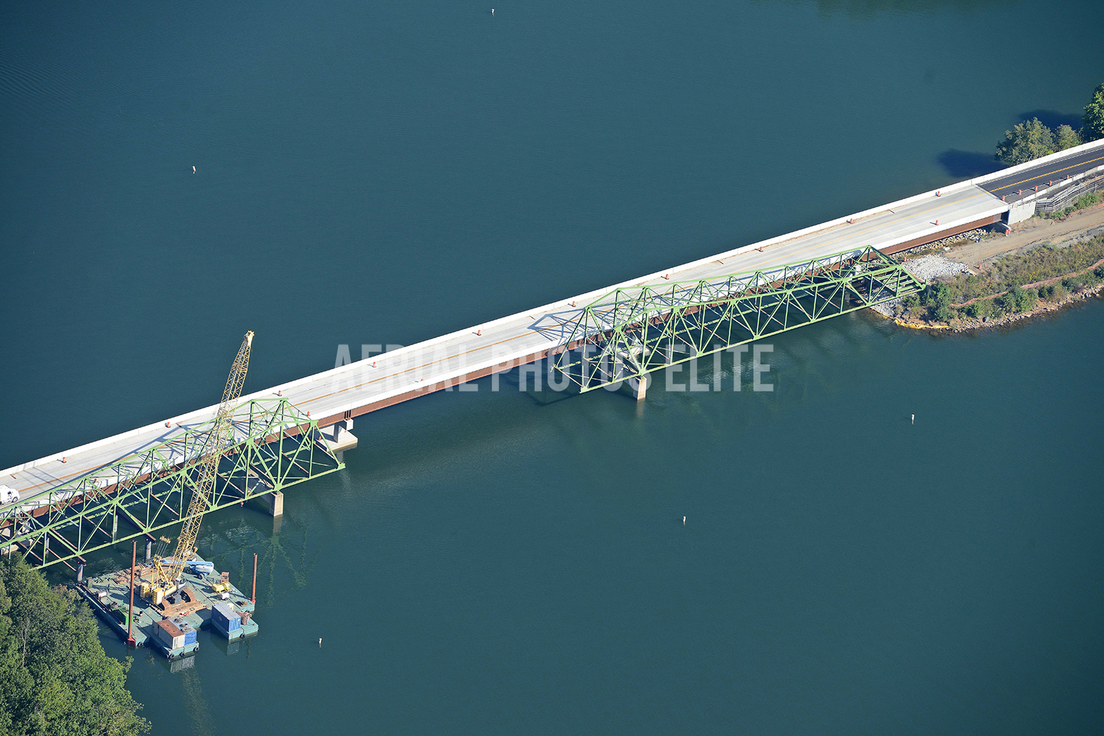 SR53 Bridge Construction Gainesville GA | Aerial Photos Elite