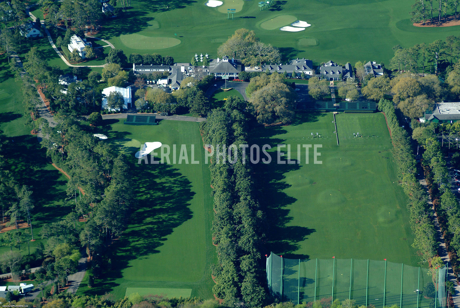 Aerial Photos Elite Augusta National Driving Range Clubhouse Augusta GA | Aerial Photos Elite