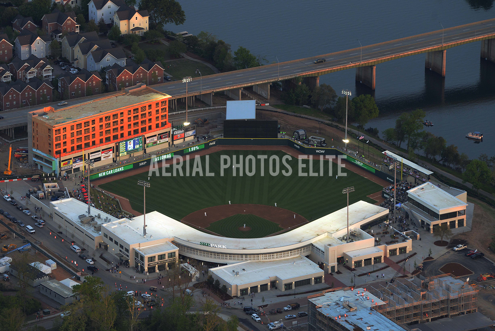 SRP Park Night Opening Game Green Jackets North Augusta SC | Aerial Photos Elite