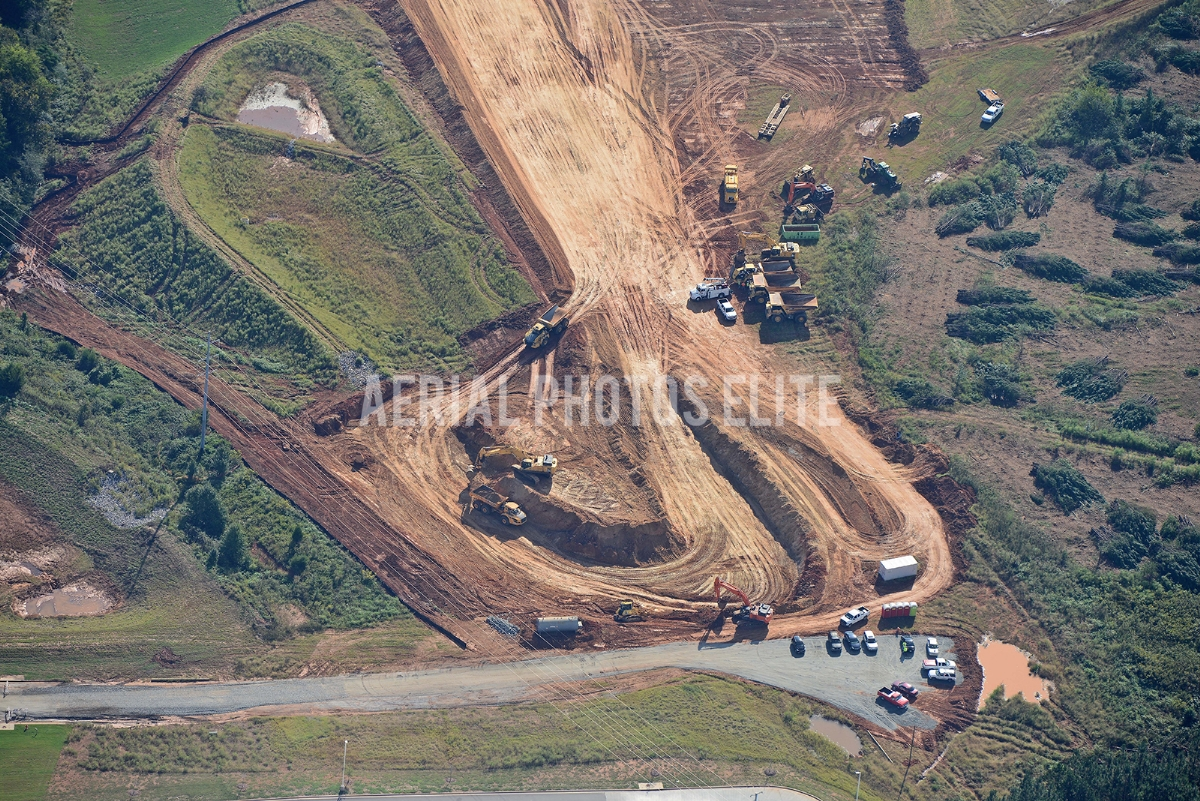 Construction of Inland Port Greenville SC | Aerial Photos Elite