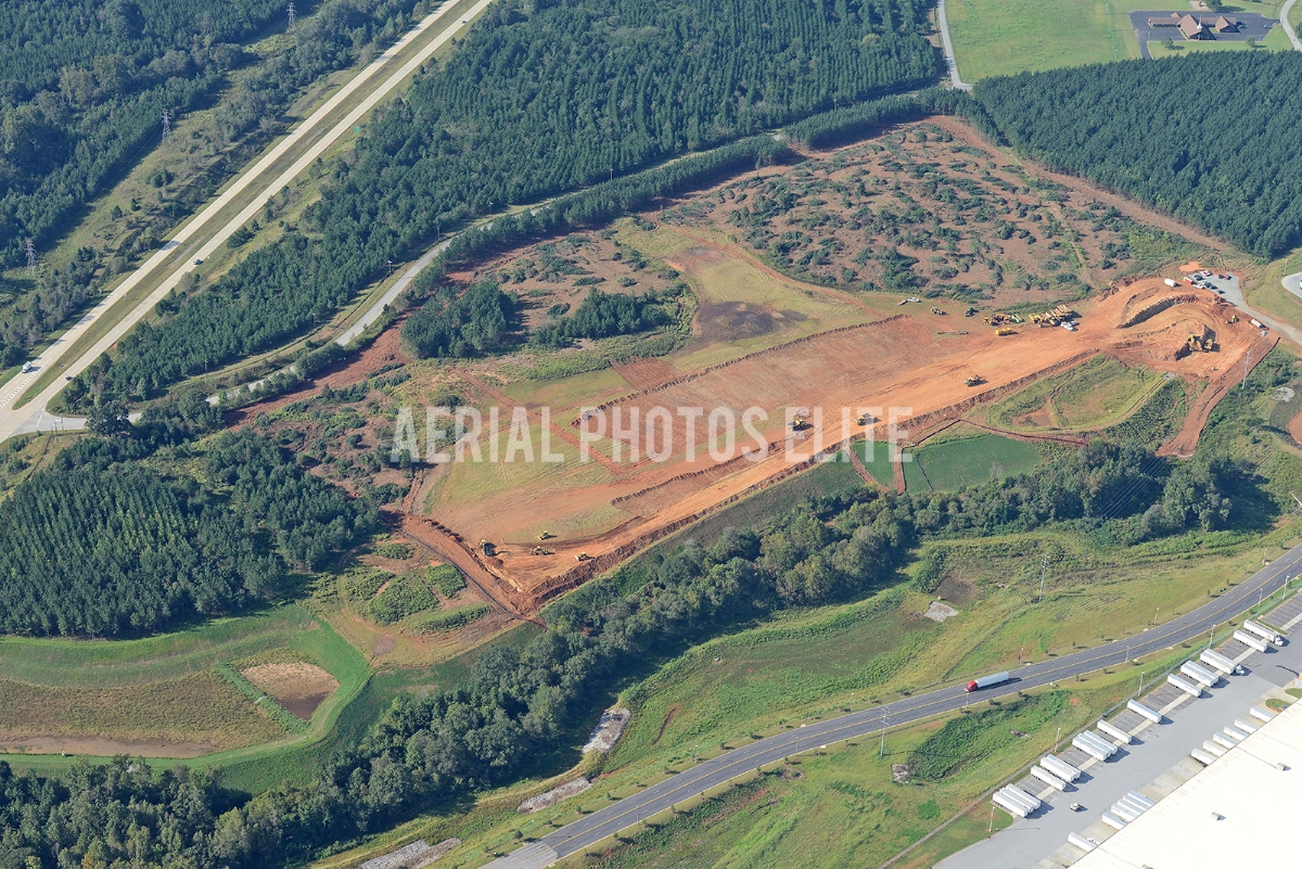 Construction of Inland Port 2 Greenville SC | Aerial Photos Elite