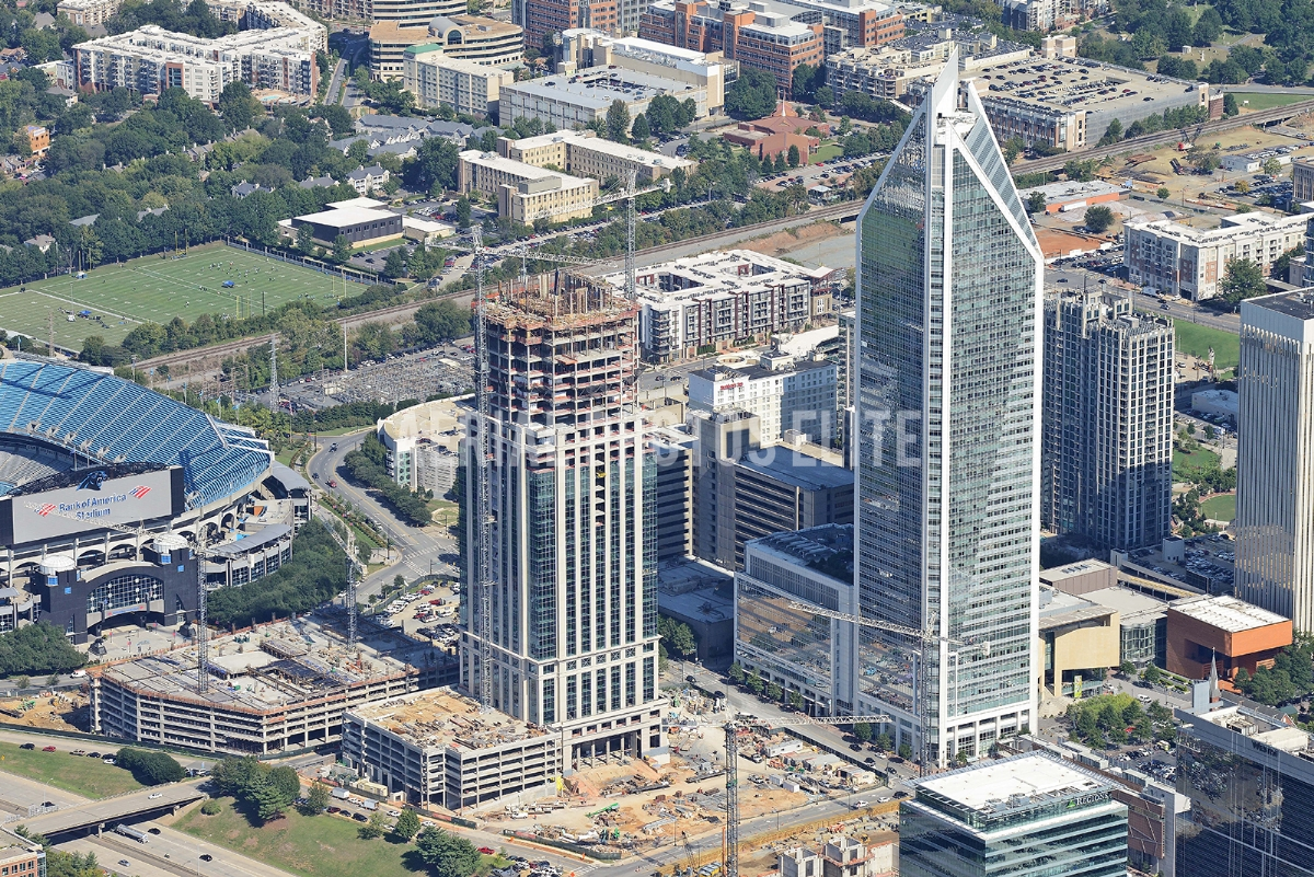 HighRise Construction Charlotte NC | Aerial Photos Elite